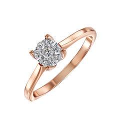 Золотое помолвочное кольцо в комбинированном цвете с бриллиантом 000104398 18 размера от Zlato