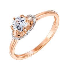 Золотое кольцо Пенелопа в комбинированном цвете с кристаллами Swarovski 16 размера от Zlato