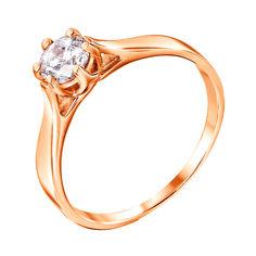 Кольцо из красного золота с цирконием Swarovski 000126394 18.5 размера от Zlato