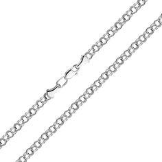 Серебряный браслет в плетении бисмарк 000118106 18 размера от Zlato