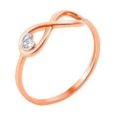 Кольцо в комбинированном цвете золота с бриллиантами, знаком бесконечности и сердечком 000131406 17.5 размера от Zlato
