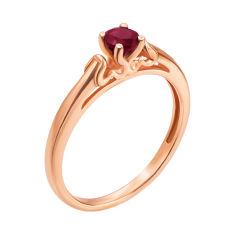 Кольцо из красного золота с рубином 000136919 16 размера от Zlato