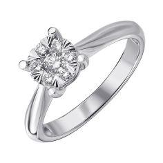 Кольцо из белого золота с бриллиантами 000139261 17.5 размера от Zlato