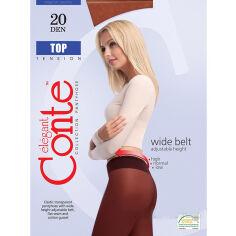 Колготки темно-коричневые для женщин низкая талия Top 20 Den Conte 8С-29СП Mocca 4 от Podushka