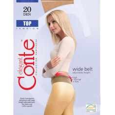 Колготки бежевые для женщин низкая талия Top 20 Den Conte 8С-29СП Natural 3 от Podushka