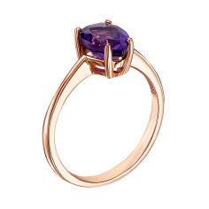 Кольцо из красного золота с аметистом 000127109 16.5 размера от Zlato
