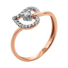 Золотое кольцо в комбинированном цвете с фианитами 000134106 16.5 размера от Zlato