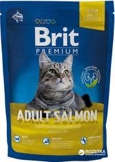 Сухой корм для взрослых кошек с лососем Brit Premium Adult Salmon 1.5 кг (8595602513123) от Rozetka