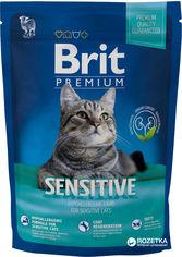 Сухой корм для взрослых кошек с ягненком Brit Premium Adult Sensitive 1.5 кг (8595602513208) от Rozetka