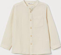 Акция на Рубашка H&M 8405761 128 см Молочная (hm08215999727) от Rozetka