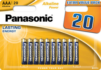 Батарейки Panasonic Alkaline Power щелочные AAA блистер, 20 шт (LR03REB/20BW) от Rozetka