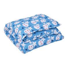 Одеяло детское антиаллергенное Colour Fiber Lony Lotus синее 110х140 см от Podushka