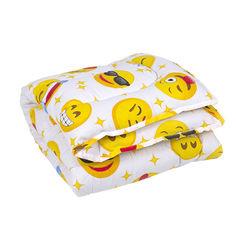 Одеяло детское антиаллергенное Colour Fiber Emoji Lotus желтое 110х140 см от Podushka