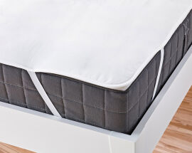 Наматрасник непромокаемый с резинками по углам Ютек Full cover 90х200 см от Podushka