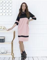 Платья ISSA PLUS SA_11  3XL черный/розовый от Issaplus