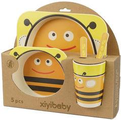 Набор детской посуды из бамбукового волокна Supretto со зверьками Пчела 5 предметов (5094-0001) от Rozetka