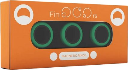 Магнитные кольца FinGears Magnetic Rings Sets Size M Green-Black (FG380MGRBLK) от Rozetka