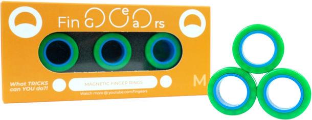 Магнитные кольца FinGears Magnetic Rings Sets Size M Green-Blue (FG380MGRBLU) от Rozetka