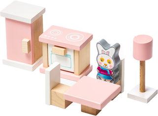 Деревянная развивающая игра Cubika Детский набор Мебель 3 Кухня 10 деталей (4823056513975) от Rozetka
