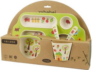 Набор детской посуды из бамбукового волокна Supretto с сюжетом Лесной домик 5 предметов (5093-0001) от Rozetka