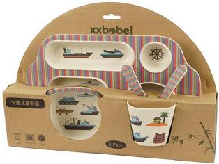 Набор детской посуды из бамбукового волокна Supretto с сюжетом Морской сюжет 5 предметов (5093-0002) от Rozetka