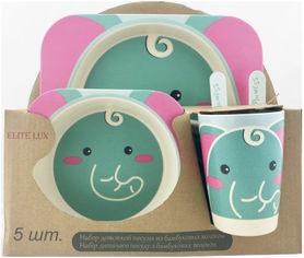 Набор детской бамбуковой посуды Elite lux Слон 5 предметов (H0053-0007) от Rozetka