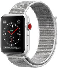 Apple Watch Series 3 42mm GPS+LTE Silver Aluminum Case with Seashell Sport Loop (MQK52) от Y.UA