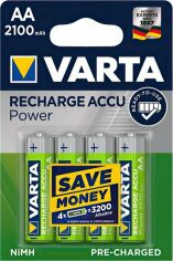 Аккумулятор VARTA RECHARGEABLE ACCU AA 2100mAh BLI 4 NI-MH (READY 2 USE) (56706101404) от MOYO