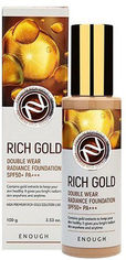 Тональный крем с золотом Enough Rich Gold Double Wear Radiance Foundation SPF50+ PA+++ №21 100 г (8809605871945) от Rozetka