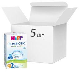 Упаковка детской сухой молочной смеси HiPP Combiotic 2 для дальнейшего кормления 5 пачек по 300 г (9062300438816) от Rozetka