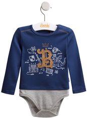Боди Бемби БД130 68 см Синее с серым (01130011133.8X0) от Rozetka