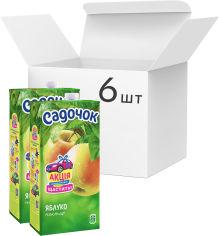 Упаковка Нектара Садочок Яблочный нектар 1.93 л х 6 шт (4823063107587) от Rozetka