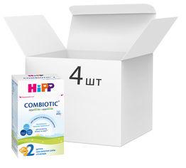 Упаковка детской сухой молочной смеси HiPP Combiotic 2 для дальнейшего кормления 4 пачки по 500 г (9062300438762) от Rozetka
