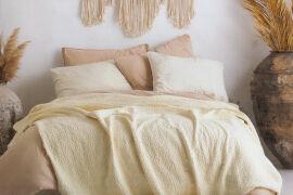Комплект покрывало хлопковое с наволочками Andalusia cream SoundSleep 240х260 см от Podushka