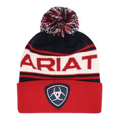 Ariat Team Beanie 11 Navy/Red от SportsTerritory