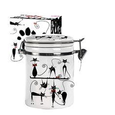Акция на Ёмкость для сыпучих S&T черная кошка 0,75 л ST 629-12 от Podushka