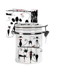 Акция на Ёмкость для сыпучих S&T черная кошка 0,5 л ST 630-12 от Podushka