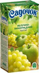 Акция на Упаковка Нектара Садочок Яблочно-виноградный нектар 0.5 л х 24 шт (4820001449624) от Rozetka
