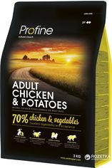 Сухой корм для взрослых собак Profine Adult Chicken с курицей и картофелем 3 кг (8595602517442) от Rozetka