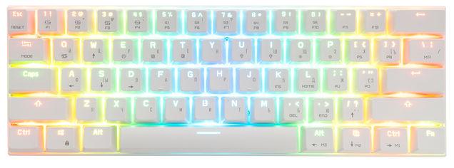 Клавиатура беспроводная, проводная Motospeed СK62, RGB, BT, USB White ENG, UKR, RUS Outemu Blue (mtck62wmb) от Rozetka