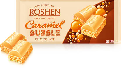 Упаковка шоколада Roshen Карамельный пористый 80 г х 20 шт (4823077626258) от Rozetka