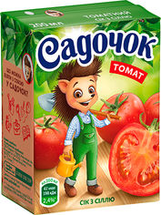 Акция на Упаковка сока Садочок Томатный с солью 0.2 л х 27 шт (4820001448023) от Rozetka