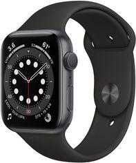 Акция на Смарт-часы Apple Watch Series 6 GPS 44mm Space Gray Aluminium Case with Black Sport Band (M00H3UL/A) от Rozetka