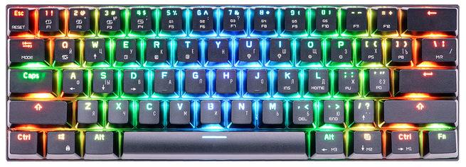 Акция на Клавиатура беспроводная, проводная Motospeed СK62, RGB, BT, USB Black ENG, UKR, RUS Outemu Blue (mtck62bmb) от Rozetka