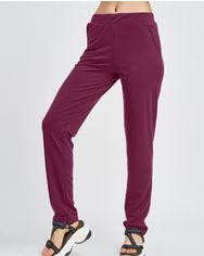 Спортивные штаны ISSA PLUS 10334  3XL бордовый от Issaplus