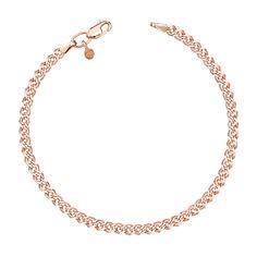 Золотой браслет в красном цвете с алмазной гранью, 3мм 000115608 20.5 размера от Zlato
