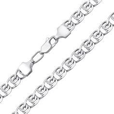 Серебряная цепочка в плетении лав 000125277 000125277 50 размера от Zlato