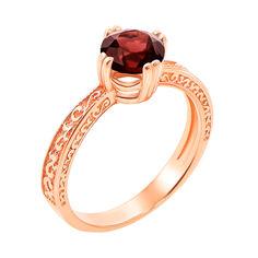 Кольцо из красного золорта с гранатом 000131291 17 размера от Zlato