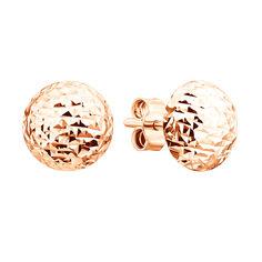 Серьги из красного золота с алмазной гранью 000129089 от Zlato