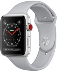 Apple Watch Series 3 38mm GPS+LTE Silver Aluminum Case with Fog Sport Band (MQJN2, MTGG2) от Y.UA